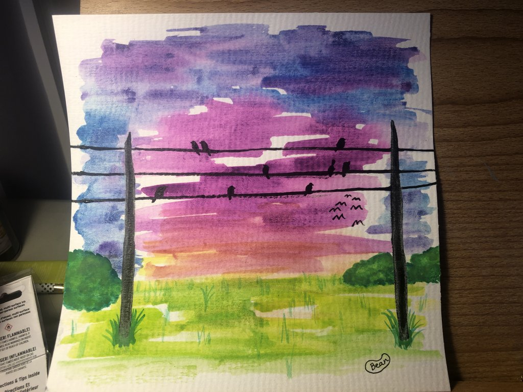 FaVoRitE CoLoR MaGenTa/RedViOLet I'm such a noob with watercolor. Help! Why is it so dark and blob