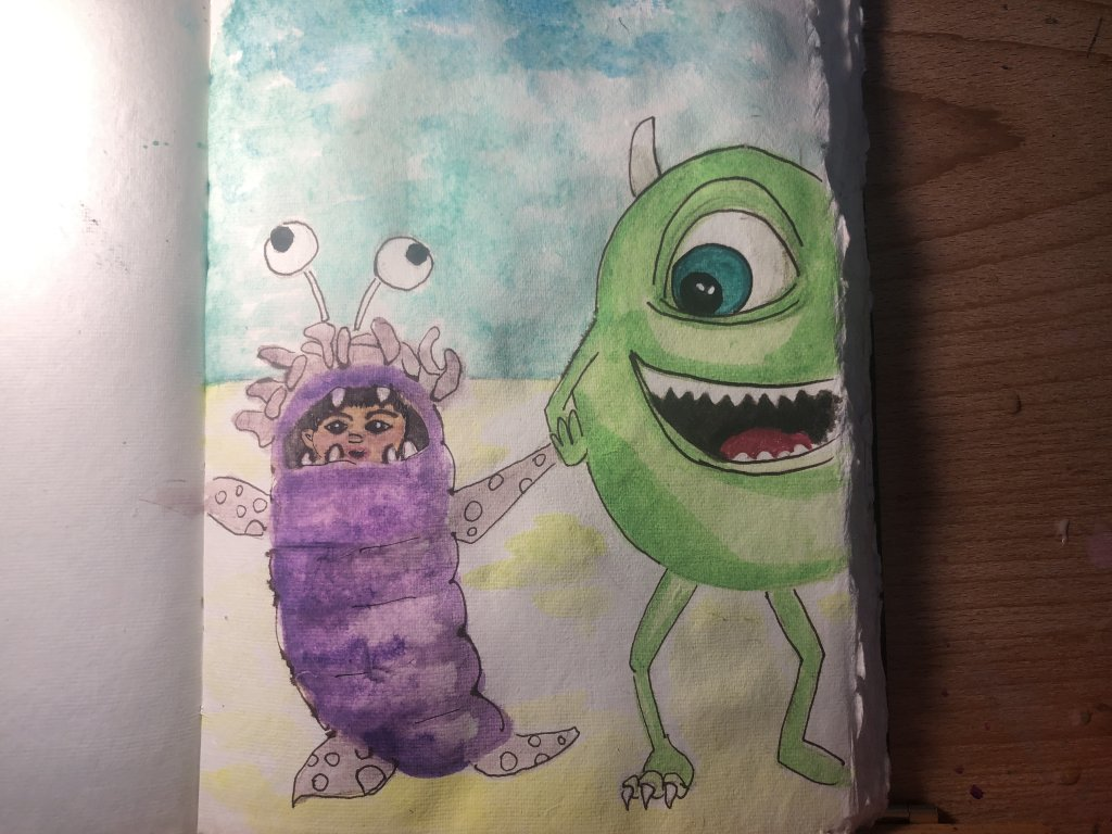One of the days I missed. July 14. GREEN I had some paper issues where I used purple. I wasn't usi