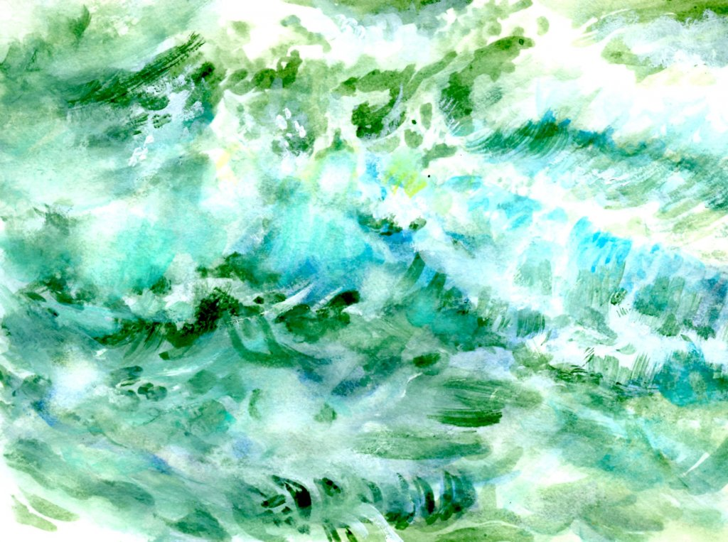 Painting Waves In Watercolor Using Creative Studio Palette