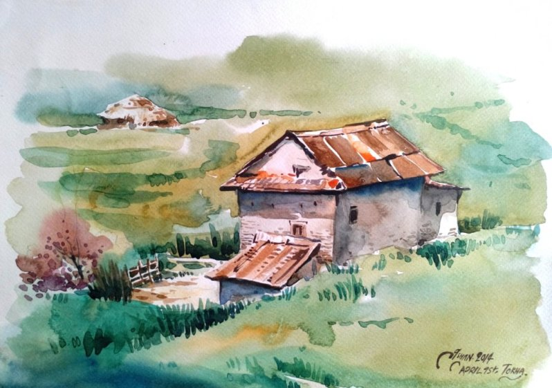 ishan_pariyar_watercolor_on paper_2014