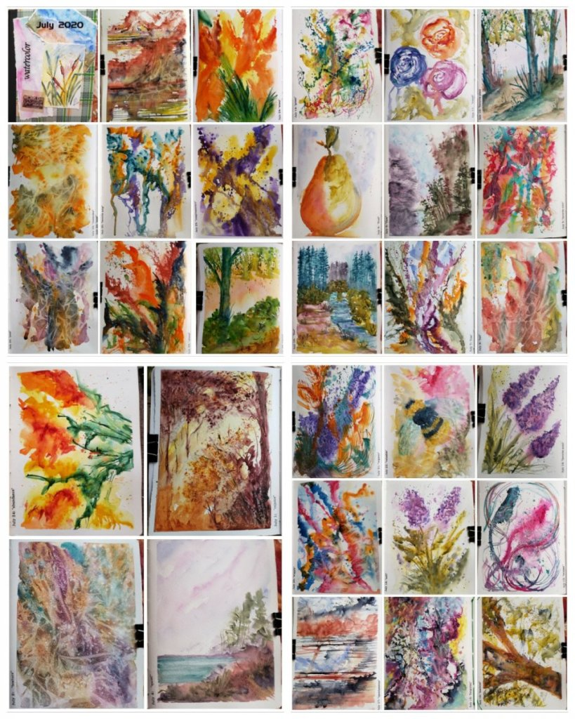 #WWM #WorldWatercolorMonth Here are 31 paintings I did for #WorldWatercolorMonth (and the cover for