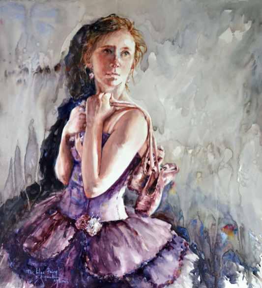 2019 The Lilac Fairy 22x23 by Bev Jozwiak