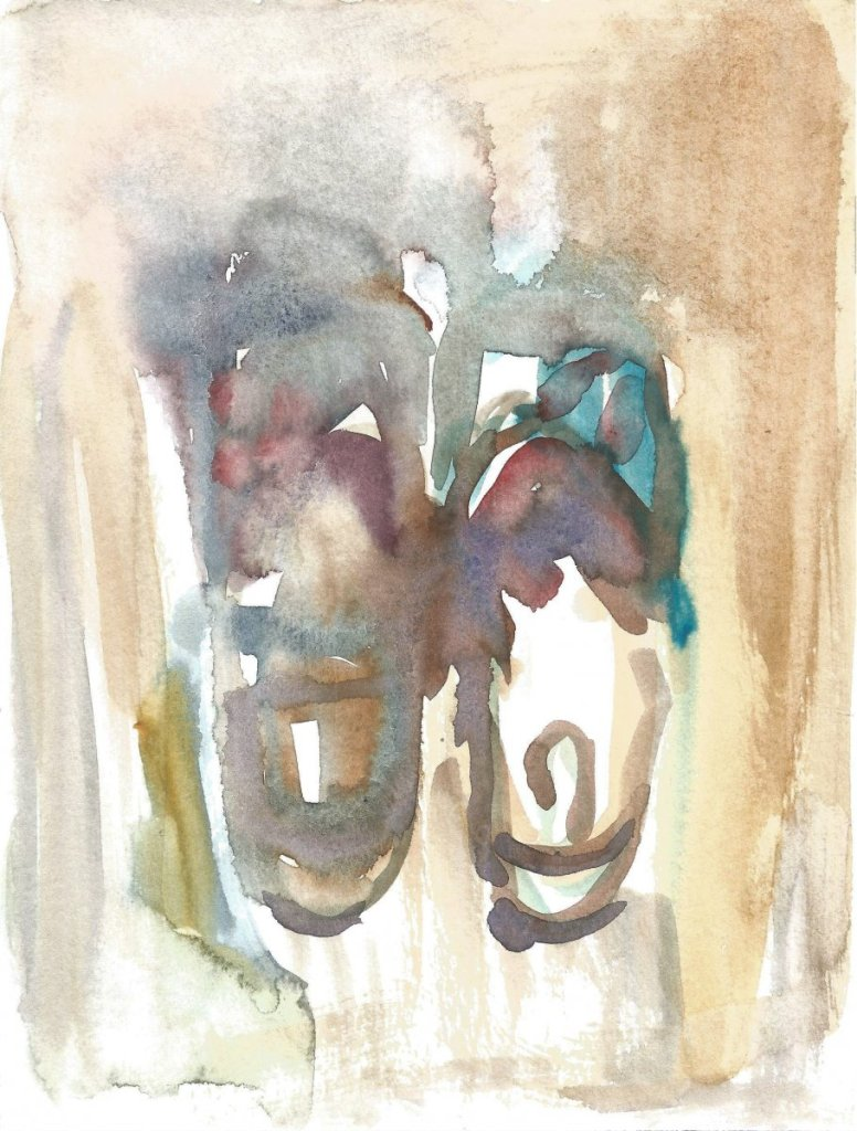 slippers, watercolor, 18 x 21 cm, 2020 66(1)_18x24_2020
