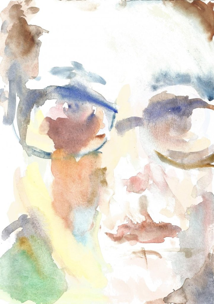 Portrait's artist, watercolor, paper, 21 x 29.7 cm, 2017 67(1)_21x29.7_2020