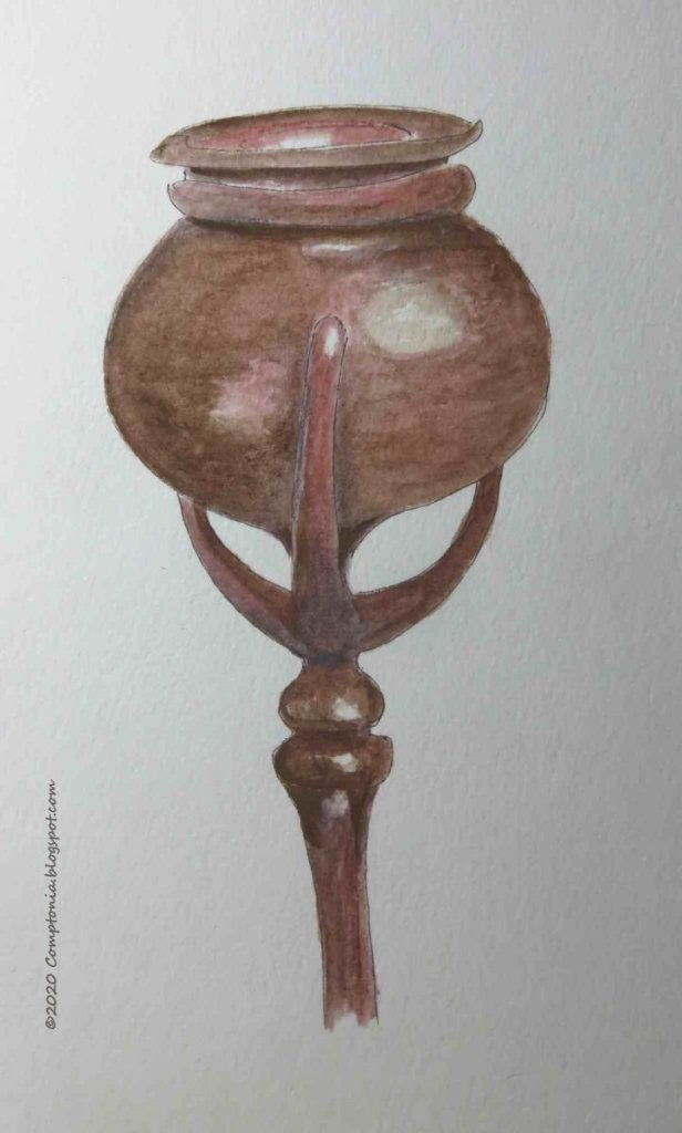 Detail of a bronze Tiffany candleholder, c.1905. AUG 4 2020