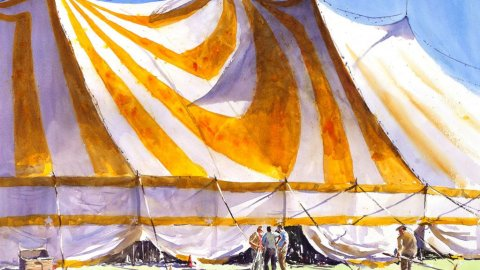 Charles Sluga watercolour Artist YELLOW