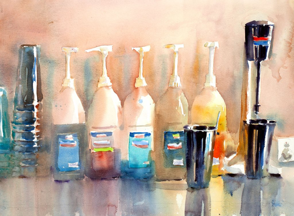 FIVE FLAVOURS watercolour painting by Charles Sluga