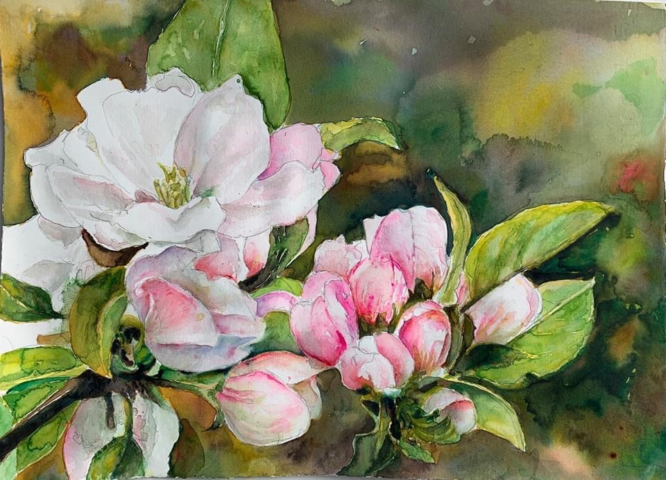 Flowers Watercolor by Lavonne Cookman
