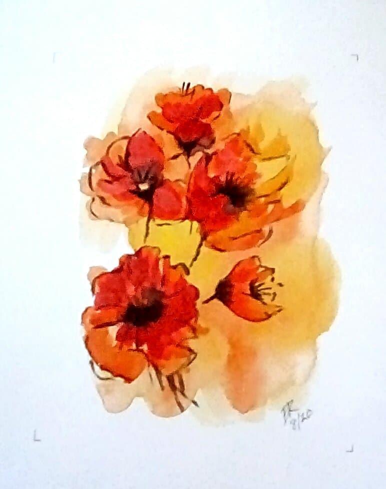 "Today's watercolor challenge ""Poppy"" IMG_20200804_160628_hdr_kindlephoto-223552706"
