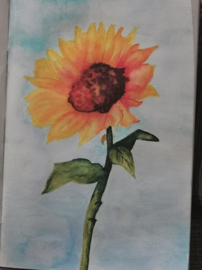 A sunflower for today 😁 I don't like the centre I found that very tricky but as a newb