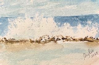 #doodlewashaugust day 1 Waves; Tonga reef breaking waves IMG_2104 (3)