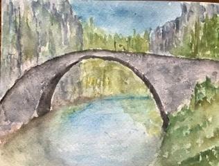 "#Doodlewash August 2020, day 7, ""Bridge""; Stonebridge Vikos Gorge Zagoria, Greece IMG_21"