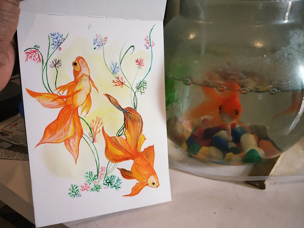 I think there's something great and generic about goldfish New artwork ❤️&#x1f9e