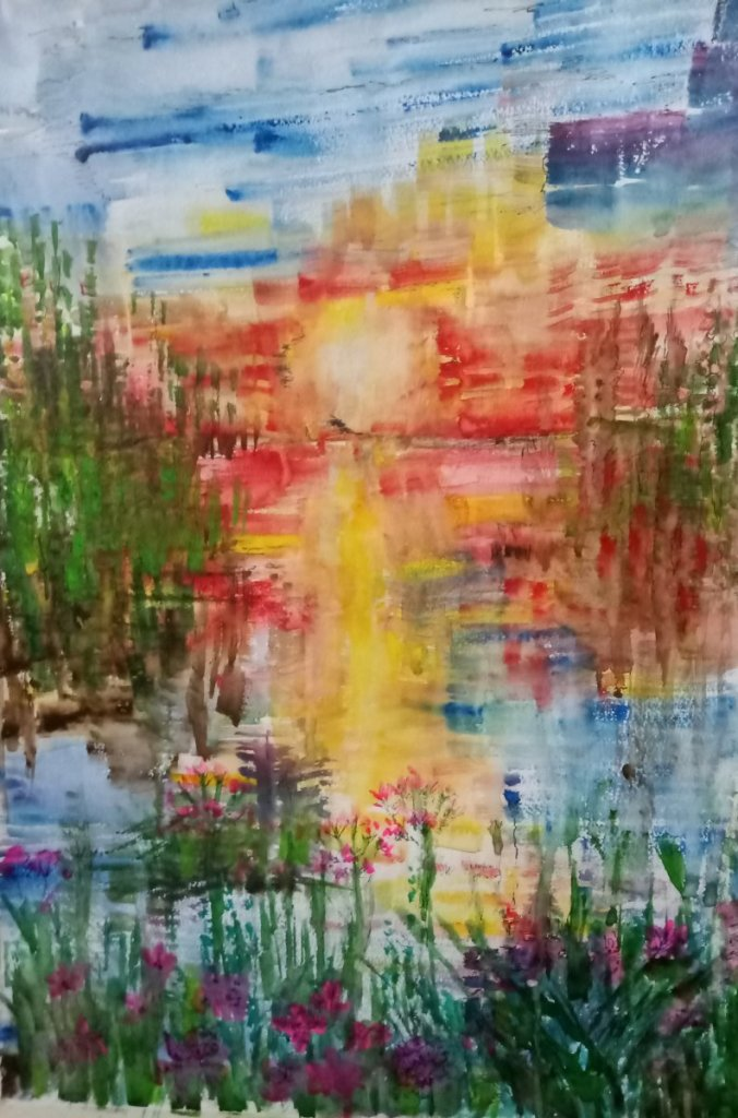 Abstract waters:Dawn, Poppies and more #WorldWatercolorGroup #DoodlewashSeptember2020 IMG_20200913_0