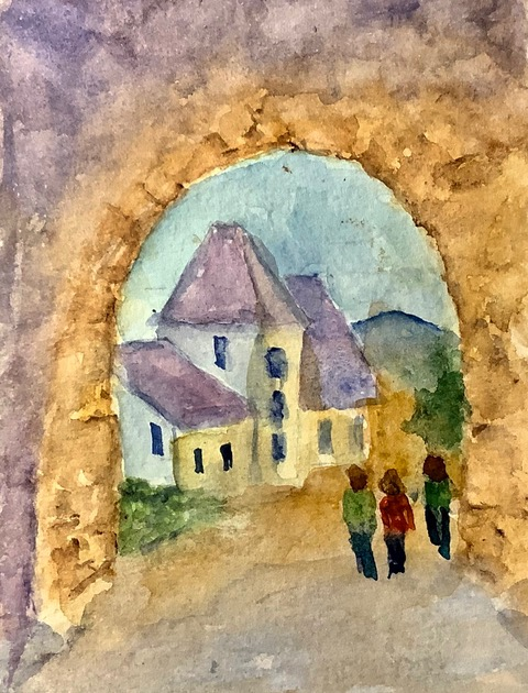 #doodlewashseptember2020 day 23: Pathway; We followed this pathway through a small Czech Republic vi