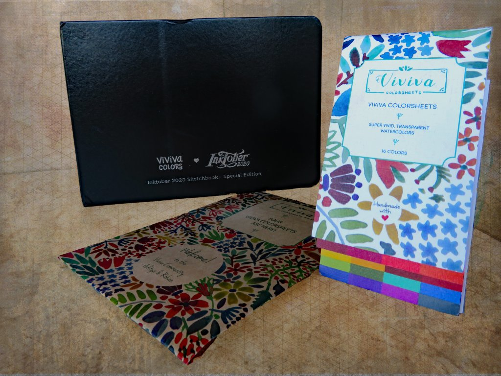 Viviva Colorsheets Packaging and Sketchbook Exterior