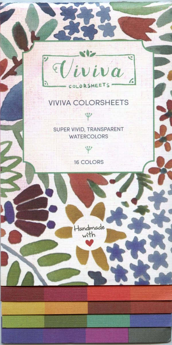 Viviva Colorsheets Front Face Panel Packaging