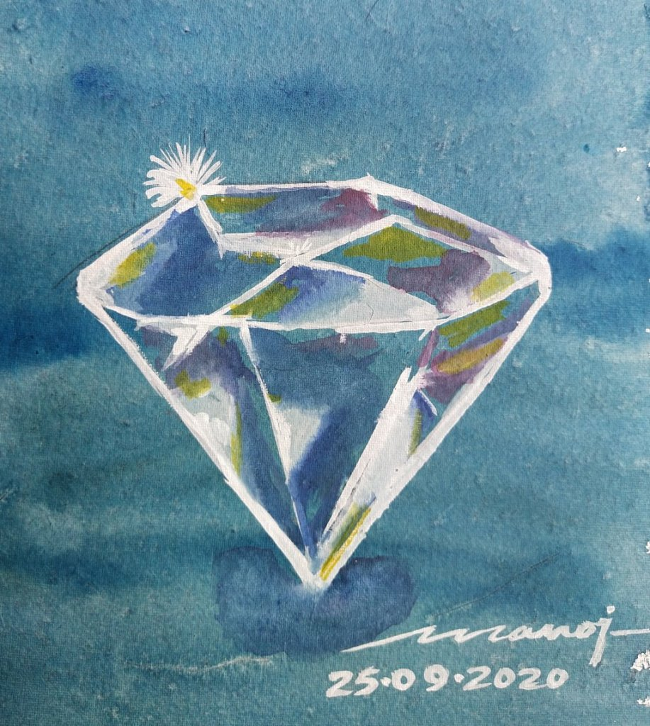 Dt: 25.09.2020 Sub: GEM Watercolor painting on handmade paper inbound7824193348440584863