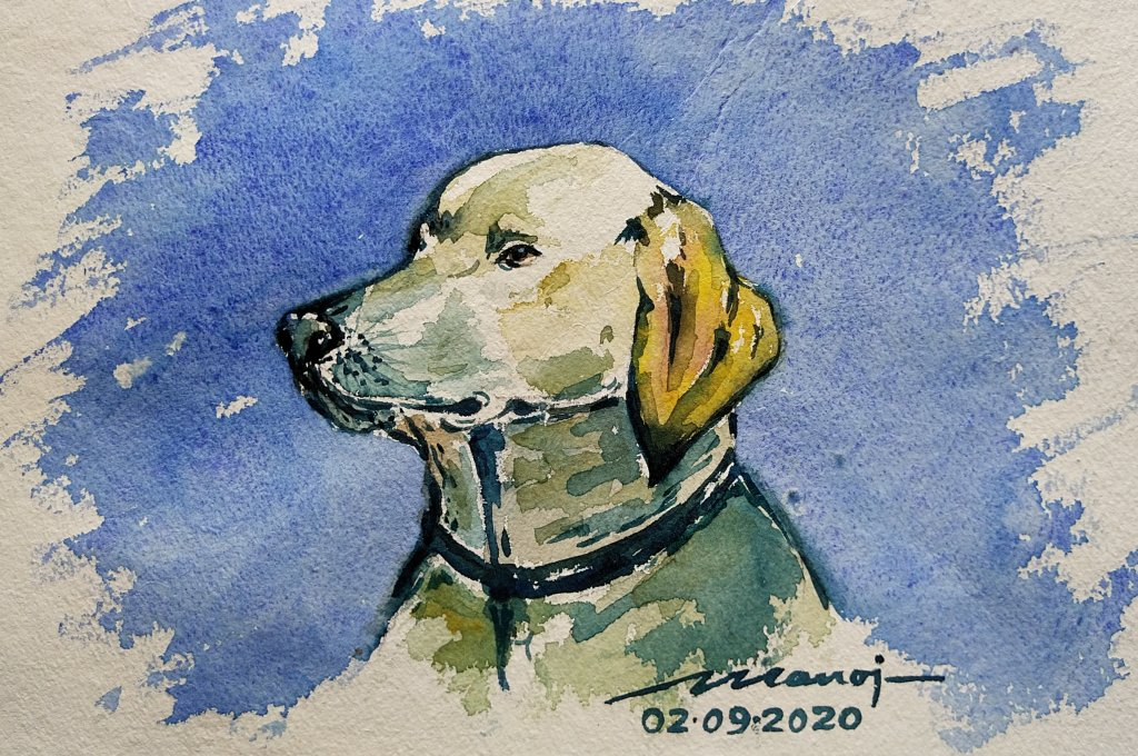 Dt: 02.09.2020 Sub: PET Watercolor painting on handmade paper inbound8432123747318244007