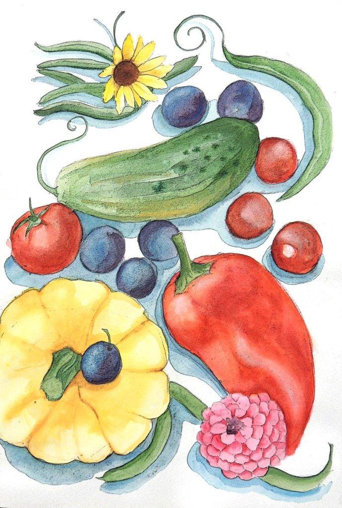 Harvest! veggies print 2020 sm
