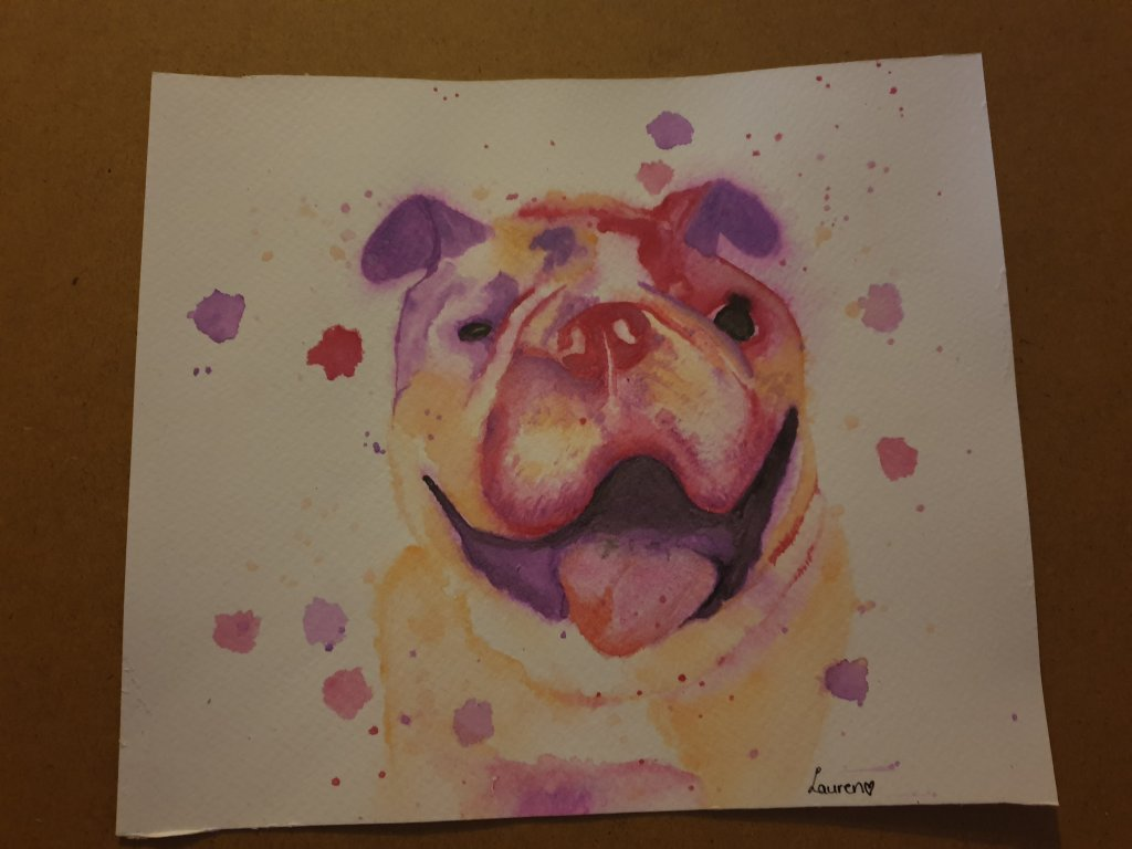 My first ever watercolour project!! I cant belive that this was my first attempt (outside any practi