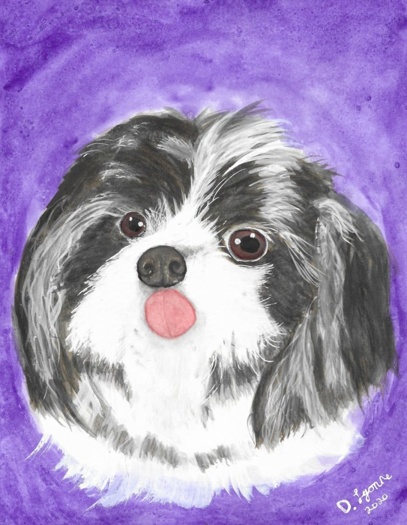 A watercolor pet portrait done on hahnemuel hot press paper. 🙂 2020-10-11_102972~2
