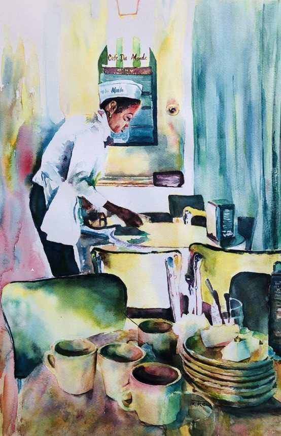 Bittersweet Life watercolor by Megha Mehra
