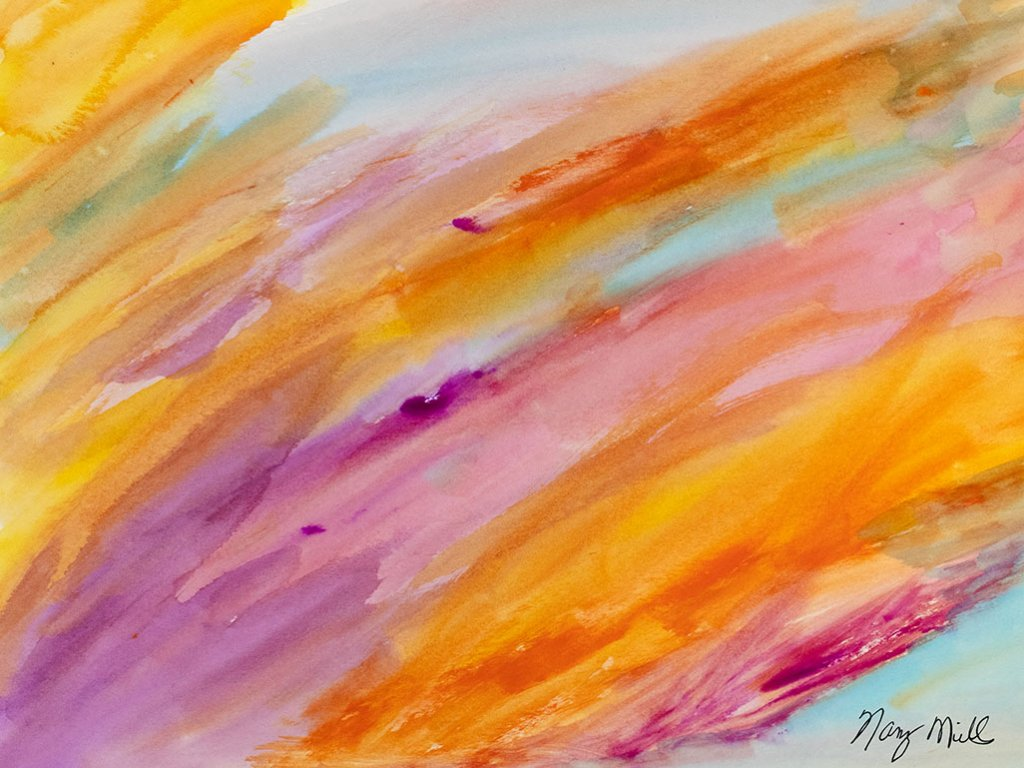 Breaking Out Watercolor Painting by Nancy Mills