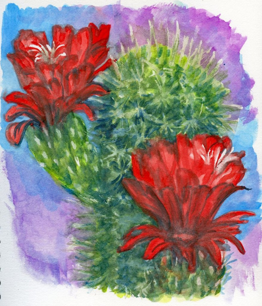 Artwork done for my review of the St. Louis Art Supply journals posted here at Doodlewash. Abstract