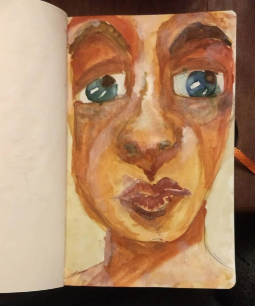 Experimenting with watercolor and gouache EF6C5622-58EB-45A8-B4C5-64AA72CECC42
