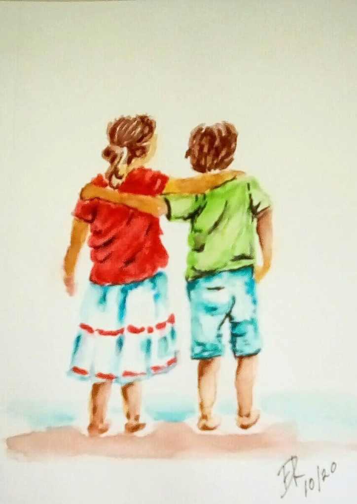 "Today's watercolor challenge ""Friend"" IMG_20201007_095845_kindlephoto-365889561"