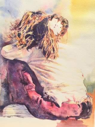 Shikha watercolor by Megha Mehra