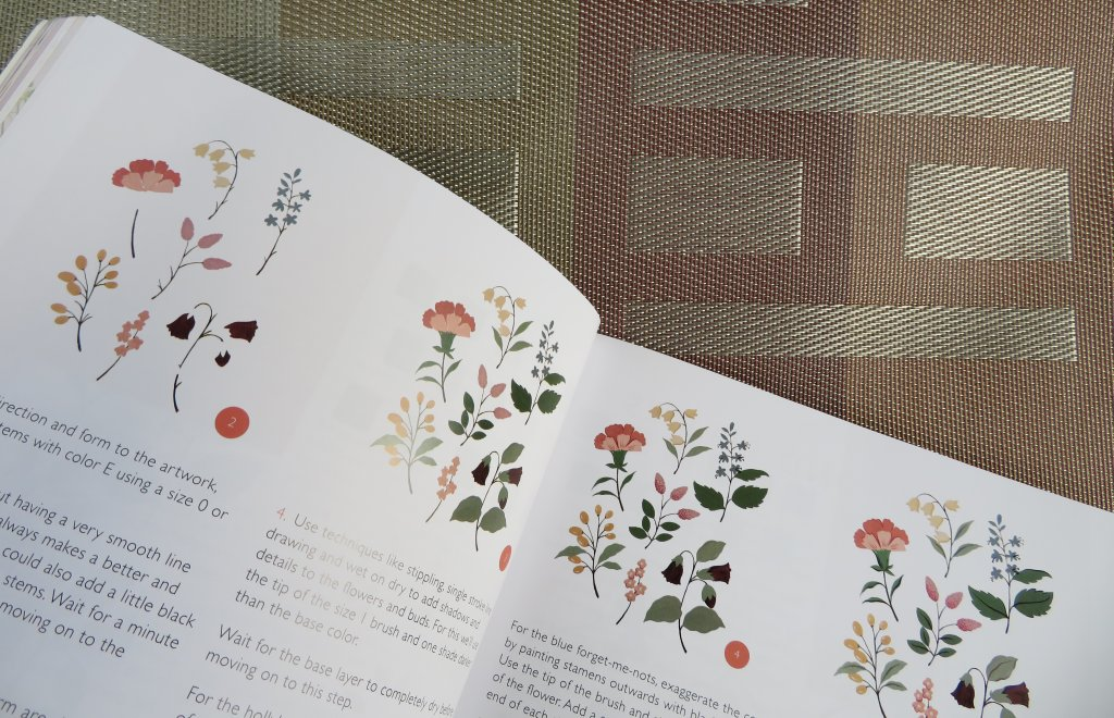 Painting Florals With Gouache Book Interior flower patterns