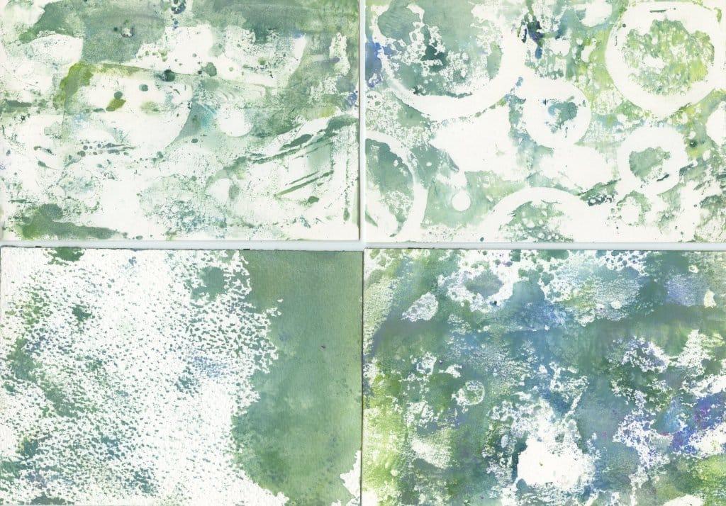 Monoprint gouache painting background textures