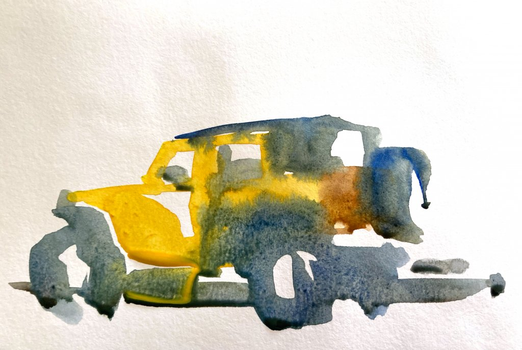 Urban Sketching Tutorial Suhita Shirodkar jeep1