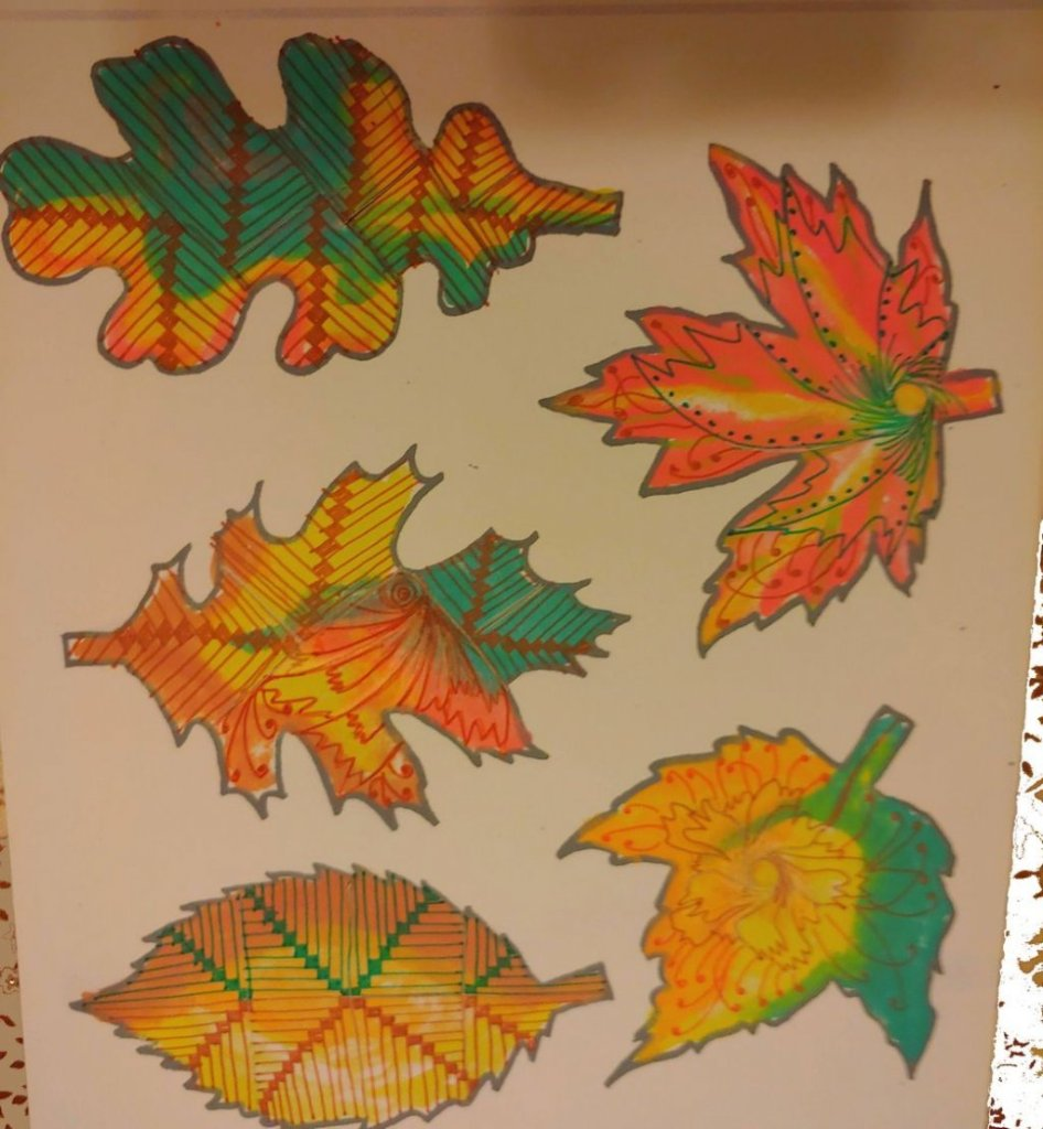 We got leafs for a challenge. this is what i made with some watercolours, fineliners and the given p