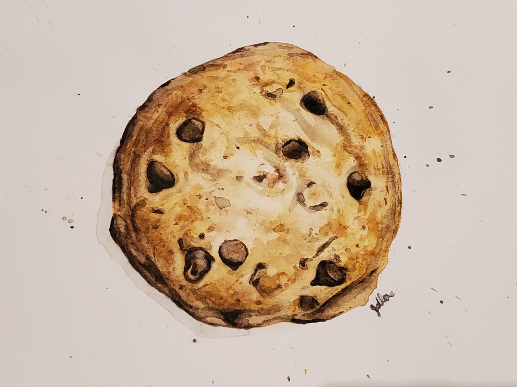 I love cookies!🍪 So I chose to paint #3 from the December challenge list. 20201216_232725