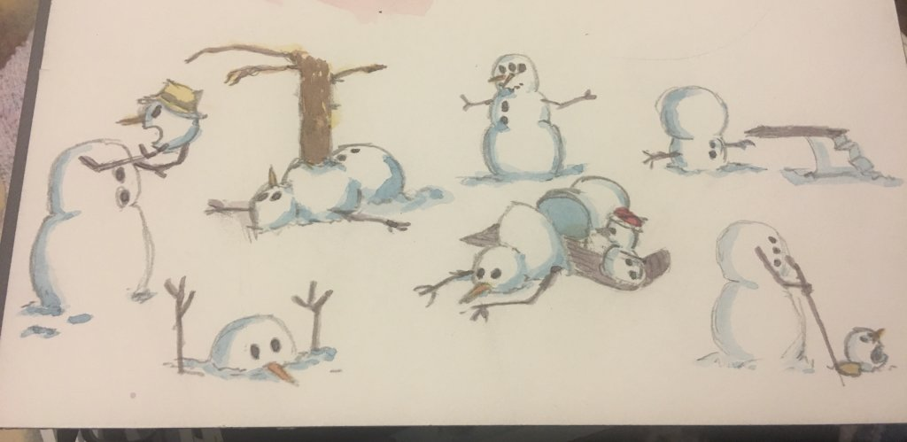 My thoughts go towards Calvin and Hobbes when I think snowman. Here's a few of my favorites. 22BD6