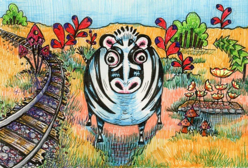 Zebra Tangle Art Design