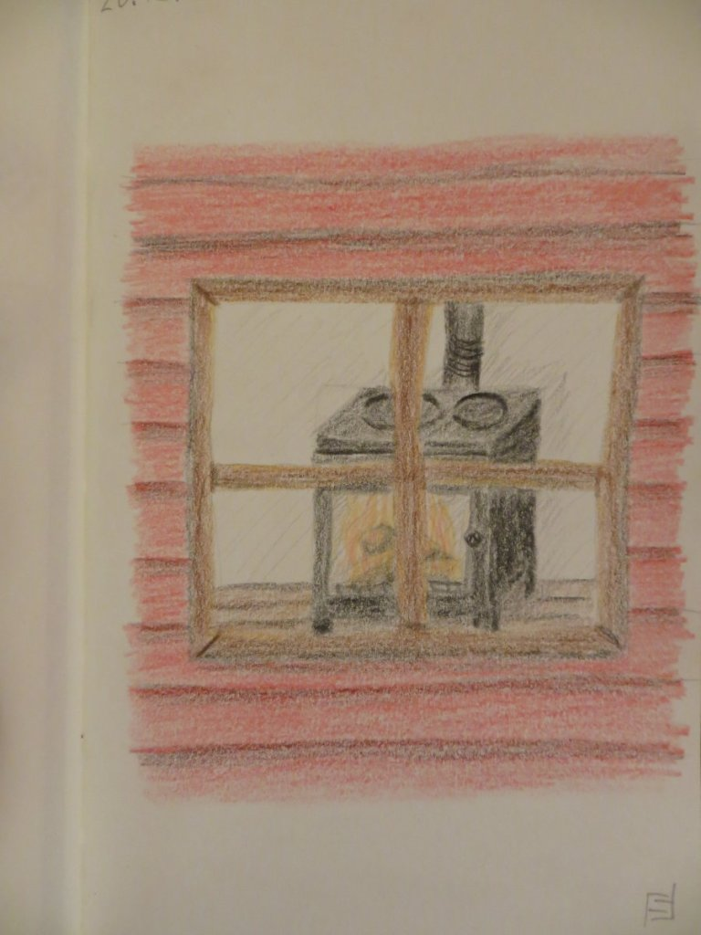 20.12.2020 – a look at a hearth through the window of a cabin IMG_4684