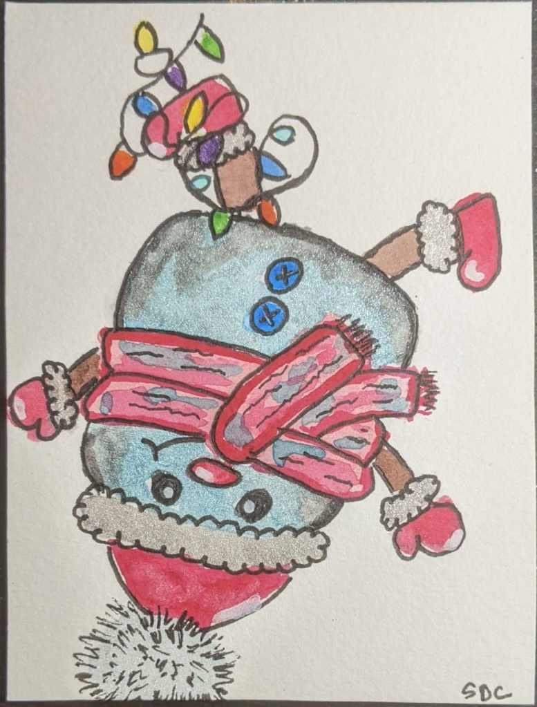 #doodlewashdecember2020 12/4/20 Snowman PXL_20201204_204241933