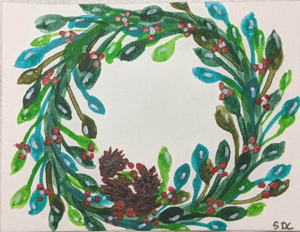 #doodlewashdecember2020 12/5/20 Wreath PXL_20201205_233148958