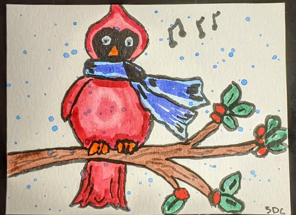 #doodlewashdecember2020 12/8/20 Cardinal PXL_20201208_000000297~2