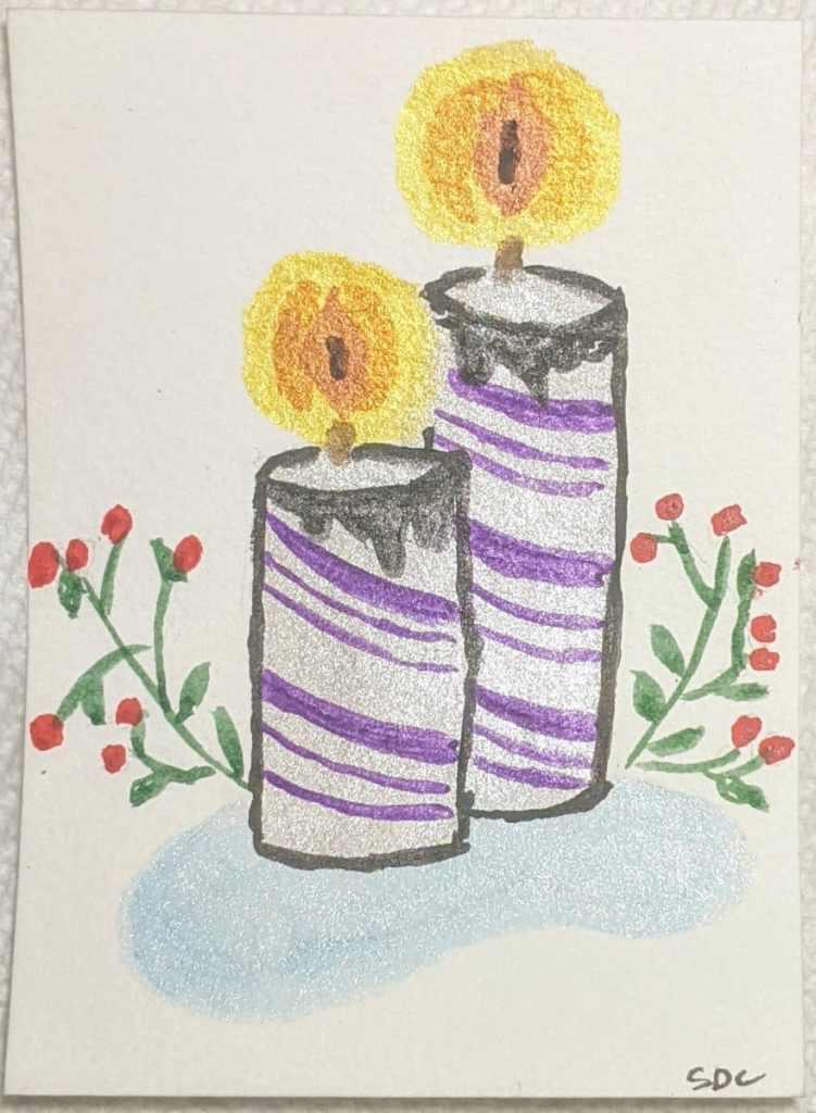#doodlewashdecember2020 12/10/20 Candle PXL_20201210_200405299.MP