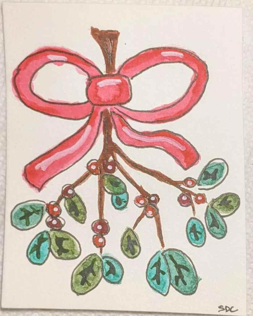 #doodlewashdecember2020 12/9/20 Mistletoe PXL_20201210_200413968~2