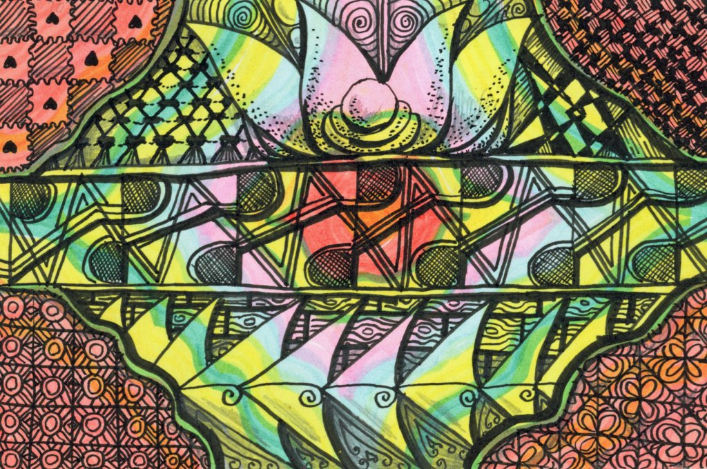 Zentagle Art In Color