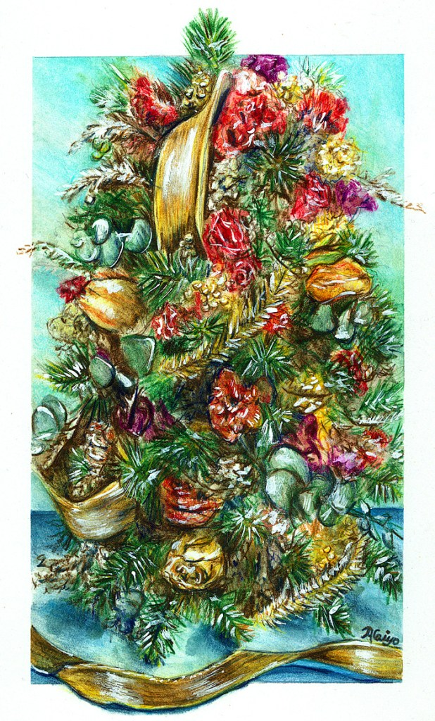 """Hello, sharing some news along with my watercolor called """"Holiday Bloomage"""". I am a memb"""