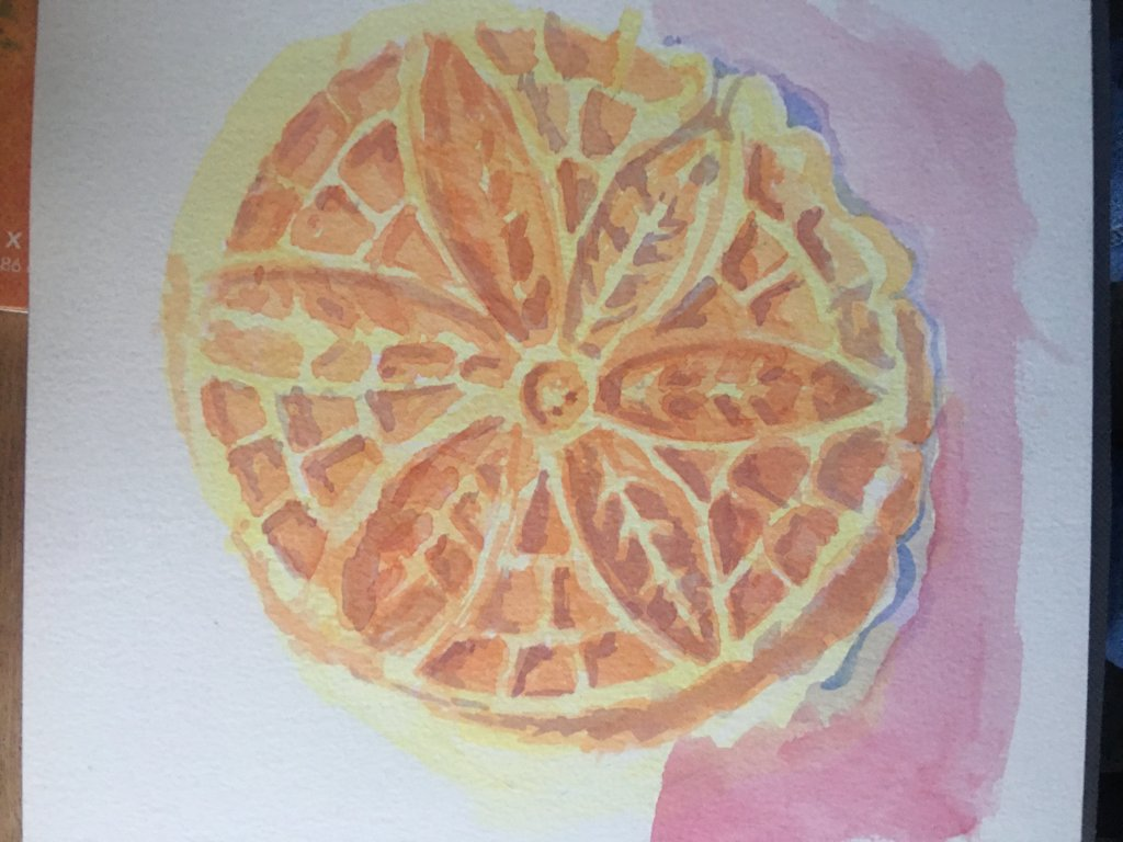 So without a sketch, I went for it. My favorite around the holidays, the pizzelle. And for whatever