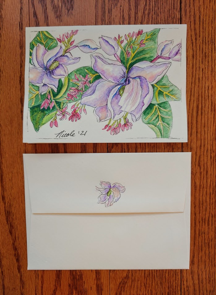 Greeting card gift – Flowers 20210121_141143
