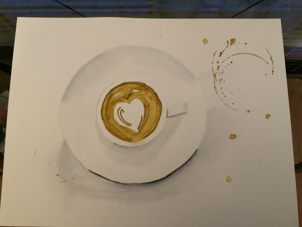 My first attempt at painting a saucer and cup of Latte. 7DF6B90E-5866-40B2-B330-9CE9BD5AE107AE4FE422
